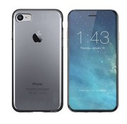 Colorfone iPhone SE 2020 and 8 and 7 Case Black Transparent - CS3T
