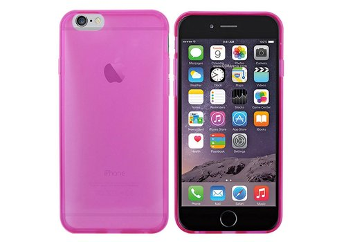 iPhone 6 Hoesje Transparant Donkerroze  CoolSkin3T