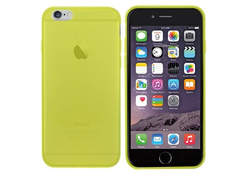 iPhone 6 Hoesje Transparant Geel CoolSkin3T