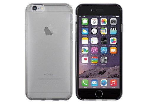 iPhone 6 Hoesje Transparant Zwart  CoolSkin3T