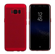 Colorfone Samsung J7 2016 Case Red - Mesh Holes