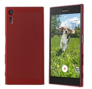 Colorfone Sony XZ and Xzs Case Red - Mesh Holes