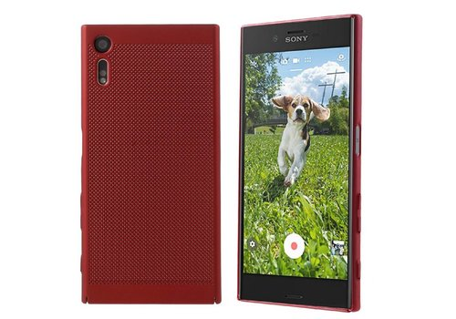 Case Mesh Löcher Sony XZ/XZs Red