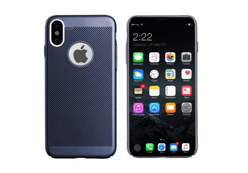 Case Mesh Holes iPhone X/Xs Blue