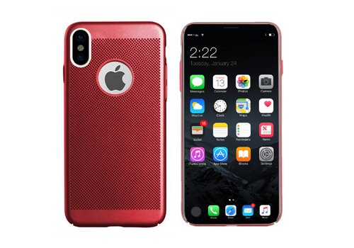 Hoes Mesh Holes iPhone X/Xs Rood