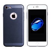 Colorfone iPhone 7 Hoesje Blauw - Mesh Holes