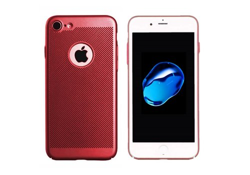iPhone 7 Hoesje Rood - Mesh Holes