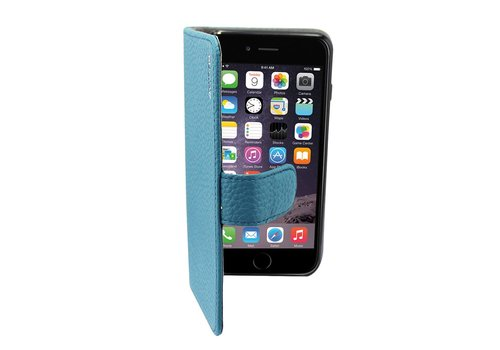 Suncia Leather5 Case iPhone 6 Plus Blauw