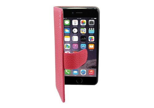 Suncia Leather5 Case iPhone 6 Plus DonkerRoze
