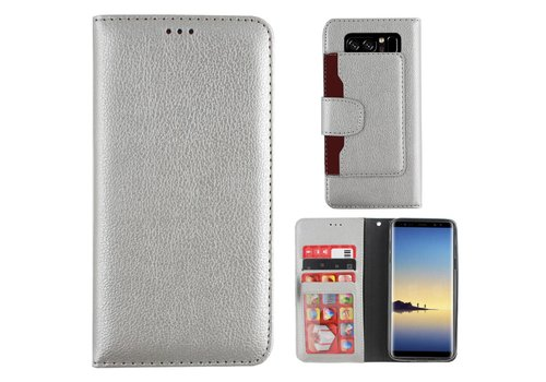 Wallet Case PU Samsung Note 8 Silver
