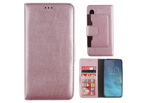 Wallet Case PU iPhone X/Xs Pink
