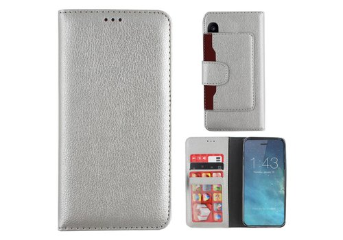 Wallet Case PU iPhone X/Xs  Silver