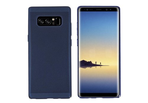 Samsung Note 8 Hoesje Blauw - Mesh Holes