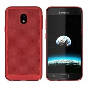 Colorfone Samsung J5 2017 Hoesje Rood - Mesh Holes