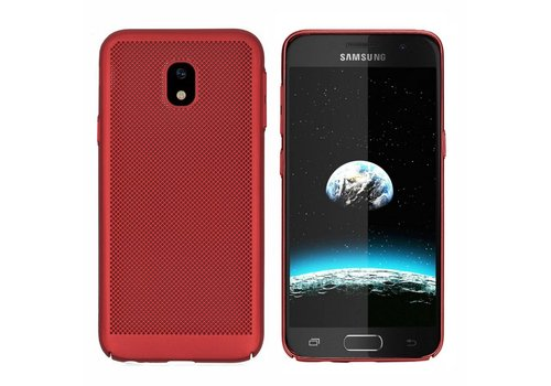Case Mesh Holes Samsung J3 2017 Red