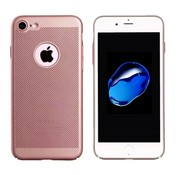 Colorfone iPhone 8 Hoesje Ros' Goud - Mesh Holes