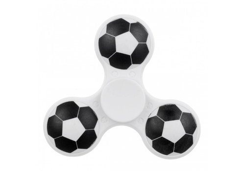 Hand Spinner 3D Football in White