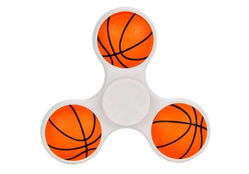 Hand Spinner 3D Basketball in White