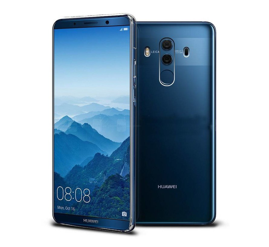 Huawei Mate 10 Pro Siliconen Hoesje Transparant - CoolSkin3T