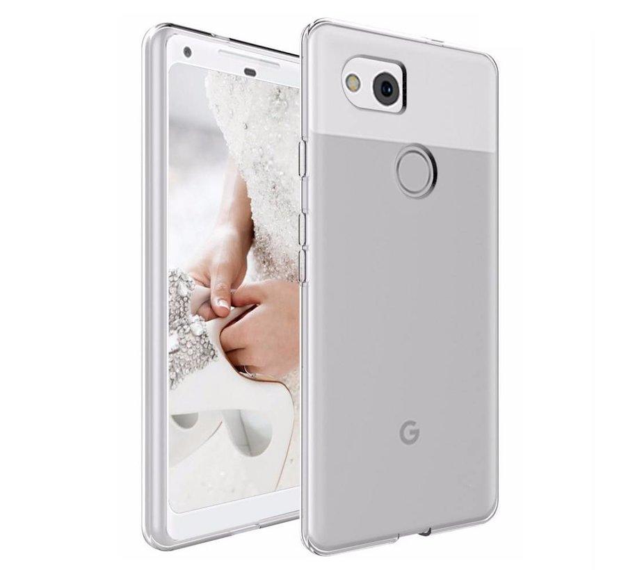 Google Pixel 2 XL Siliconen Hoesje Transparant - CoolSkin3T