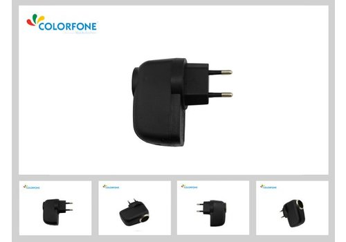 Travelcharger Head Universal for Car chargers Black