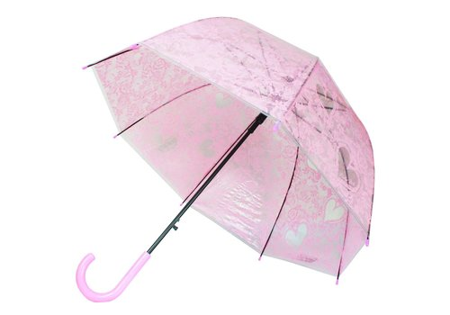 Koepel Paraplu Ø80cm Semi Tr. Roze