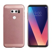 Colorfone LG V30 Hoesje Ros' Goud - Mesh Holes