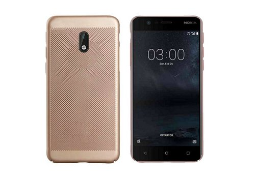 Case Mesh Holes Nokia 3 Gold