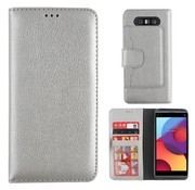 Colorfone LG Q8 Case Silver - Wallet