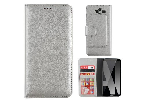 Wallet Case PU Mate 10 Pro Silver