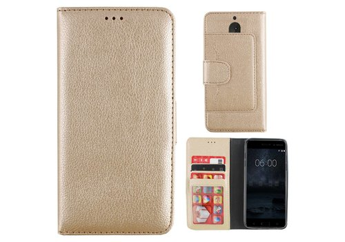 Wallet Case PU for Nokia 5 Gold