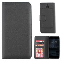 Wallet Case PU for Nokia 6 Black