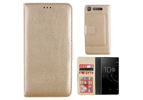 Wallet Case PU Sony XZ 1 Gold