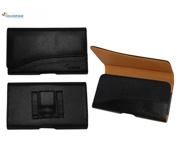 Colorfone Horizontaal Elegant iPhone X - Xs Zwart