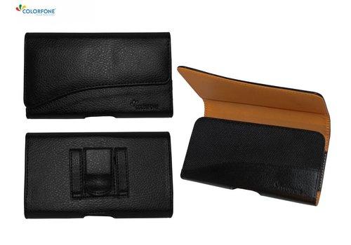 Horizontaal Elegant iPhone X/Xs Zwart