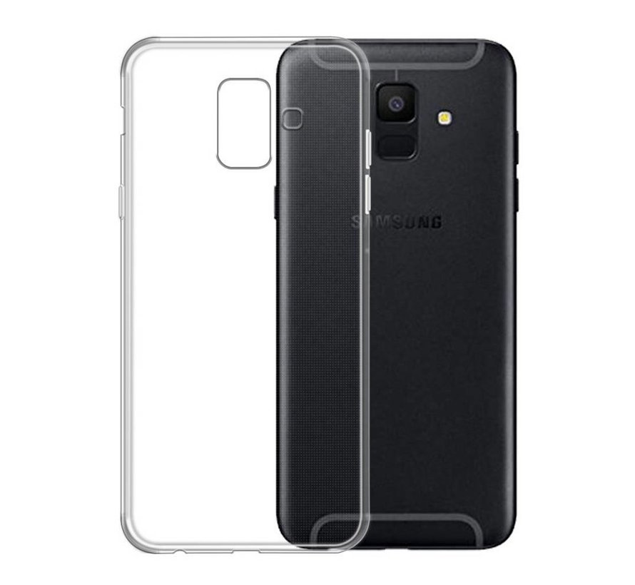 Samsung A6 Siliconen Hoesje Transparant - CoolSkin3T