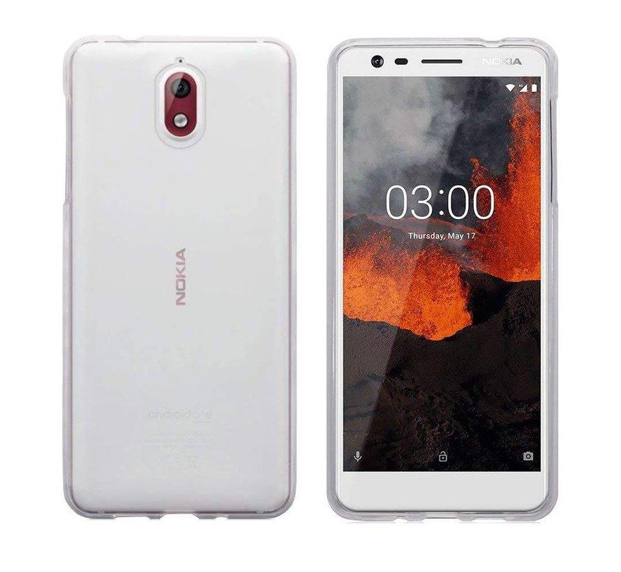 Nokia 3.1 Siliconen Hoesje Transparant - CoolSkin3T