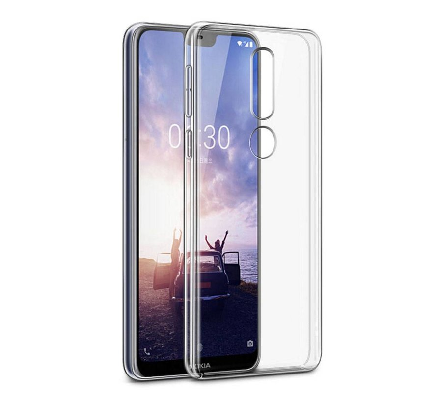 Nokia X6 Siliconen Hoesje Transparant - CoolSkin3T