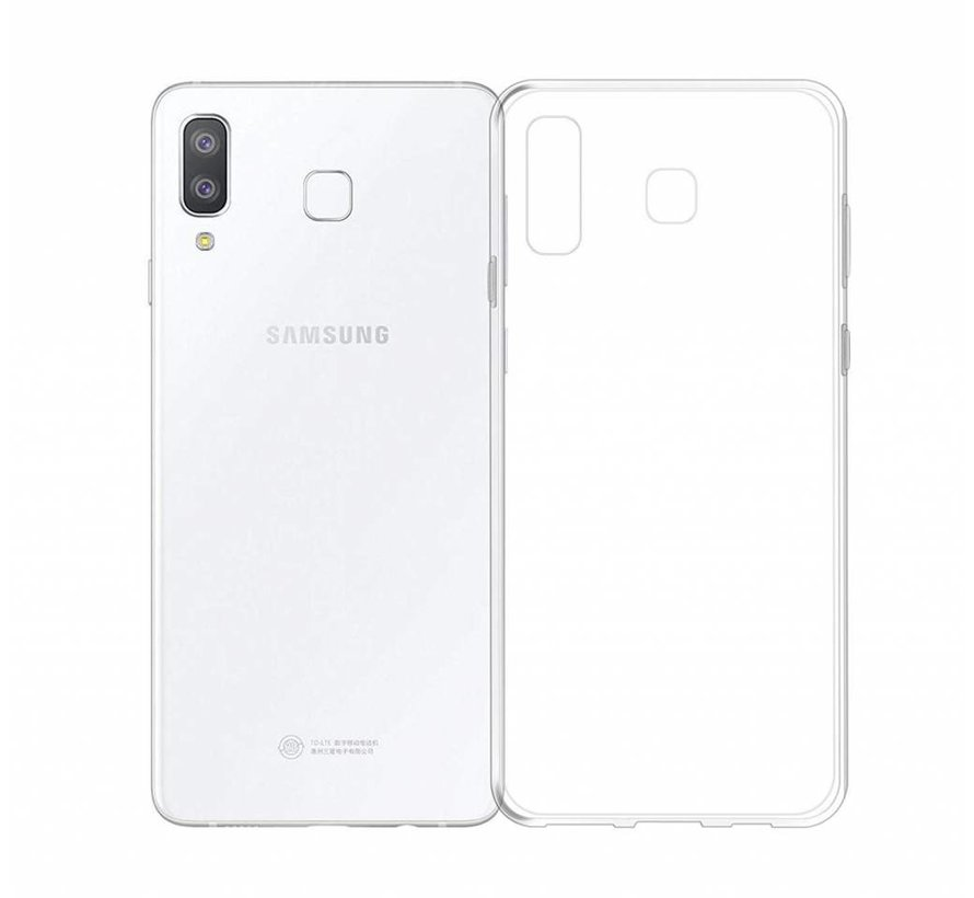 Samsung A8 Star Siliconen Hoesje Transparant - CoolSkin3T