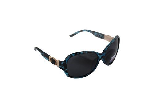 Sunglasses Polaroid Oval - Leopard Green + case