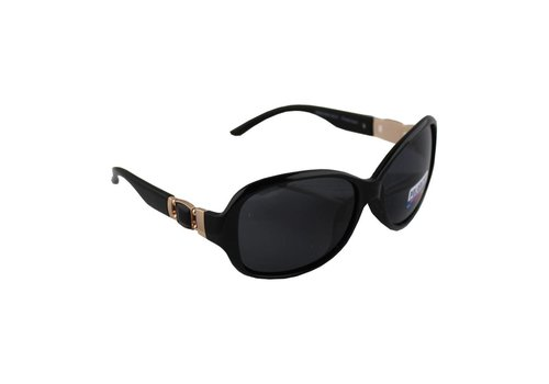 Sunglasses Polaroid Oval - Black + case
