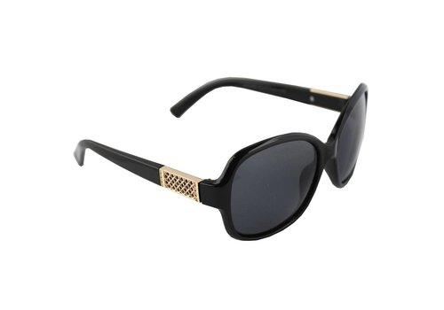 Sunglasses Polaroid Oval - Gold/Black + case
