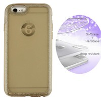 BackCover Layer TPU + PC Apple iPhone 6 - 6S Goud