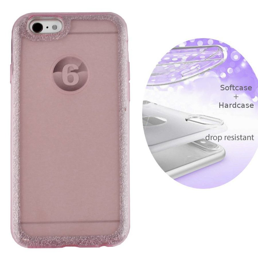BackCover Layer TPU + PC Apple iPhone 6 - 6S Roze