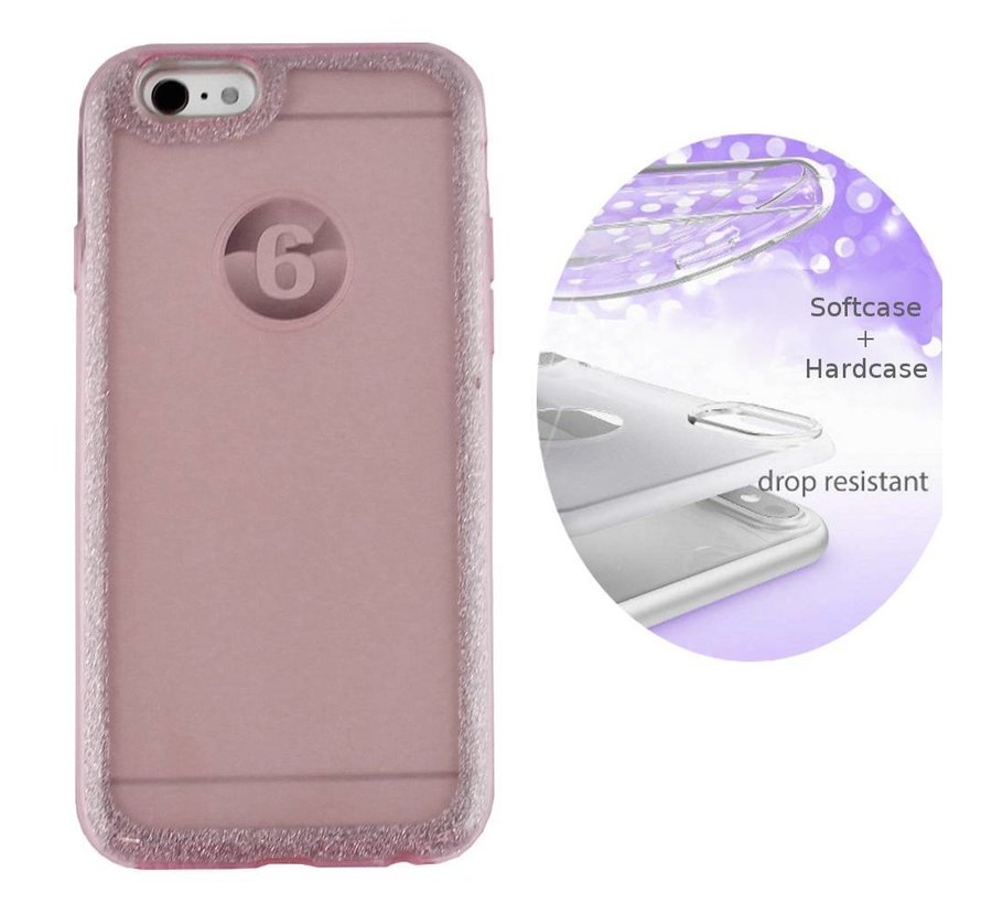 BackCover Layer TPU + PC Apple iPhone 8 - 7 Roze
