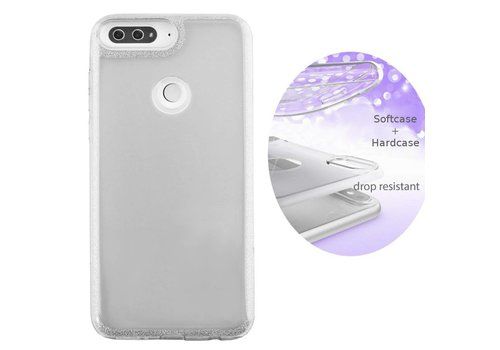 BackCover Layer Huawei Y6 2018 Zilver    - Copy
