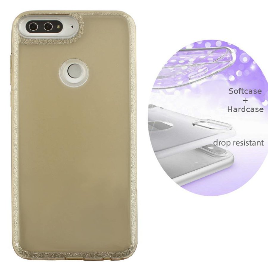 BackCover Layer TPU + PC Huawei Y7 2018 Goud