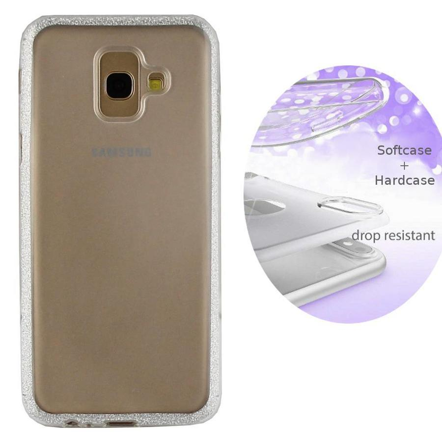 BackCover Layer TPU + PC voor Samsung A6 2018 Zilver