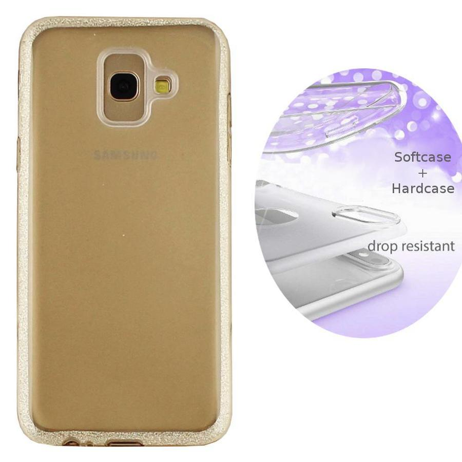 BackCover Layer TPU + PC voor Samsung A6 2018 Goud