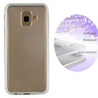 BackCover Layer TPU + PC voor Samsung A6 2018 Plus Zilver